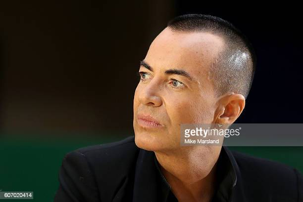 Designer Julien Macdonald is seen prior the Julien Macdonald show during London Fashion Week Spring/Summer collections 2016/2017 on September 17 2016...