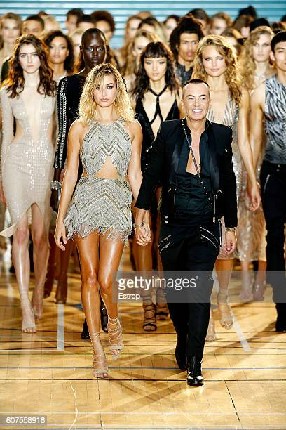 Designer Julien Macdonald walks the runway at the Julien Macdonald show during London Fashion Week Spring/Summer collections 2017 on September 17...