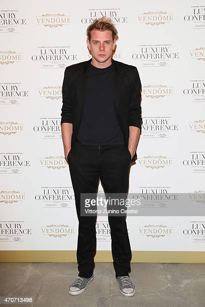 Designer JW Anderson attends the Conde' Nast International and Place Vendome Qatar Party at Palazzo Corsini on April 22 2015 in Florence Italy