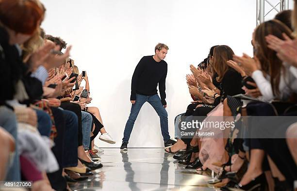 Designer JWAnderson on the runway at the JWAnderson show during London Fashion Week Spring/Summer 2016/17 on September 19 2015 in London England