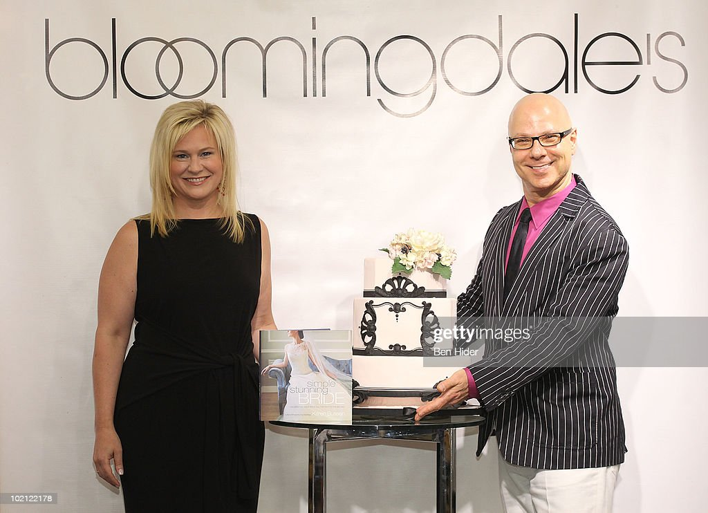 Designer Karen Busson and Cake Designer Ron Ben-Israel visit Bloomingdale's 59th Street Store on June 15, 2010 in New York City.