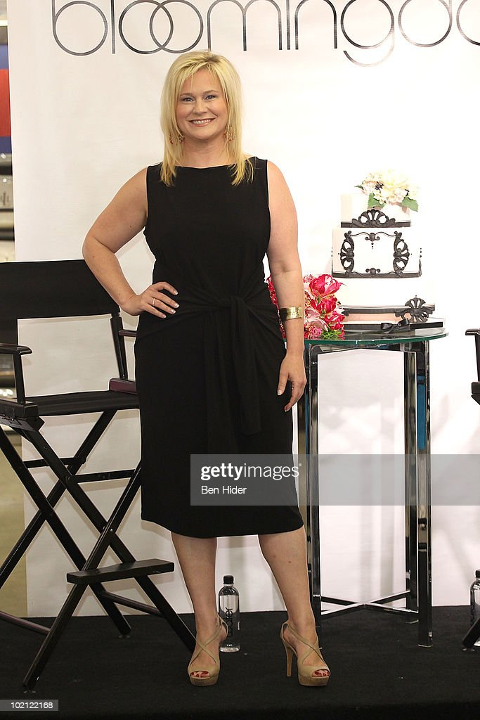 Designer Karen Busson visits Bloomingdale's 59th Street Store on June 15, 2010 in New York City.