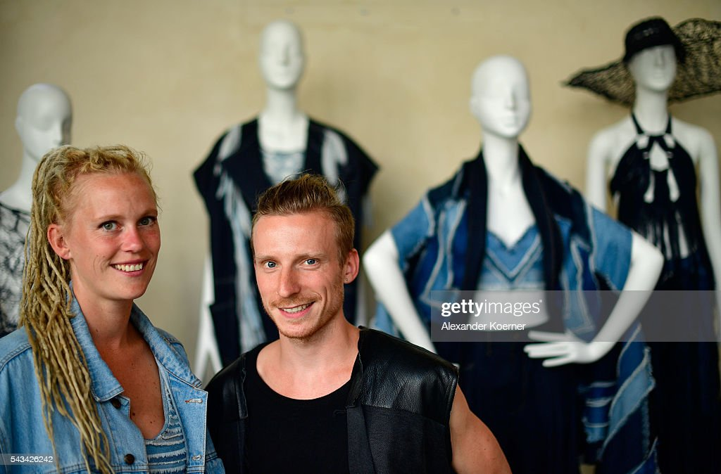 Designer Karen Jessen (Benu Berlin) poses at the Sustainability & Style event at the Embassy of The United States of America on June 28, 2016 in Berlin, Germany.