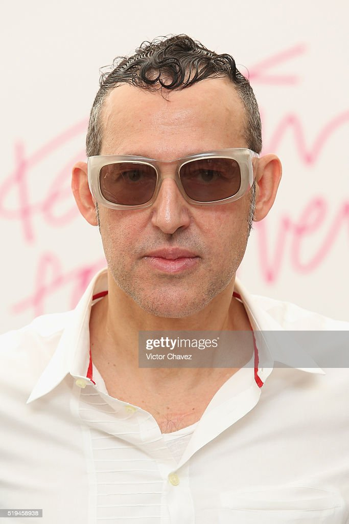 Designer Karim Rashid attends a press conference to promote his new furniture collection with Liverpool store at Liverpool Polanco on April 6, 2016 in Mexico City, Mexico.