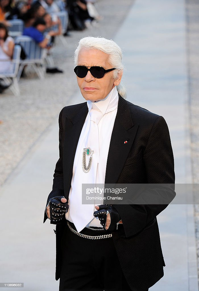 Designer Karl Lagerfeld attends the Chanel Collection Croisiere Show 2011-12 at the Hotel du Cap on May 9, 2011 in Cap d'Antibes, France.