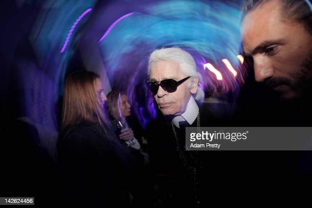 Designer Karl Lagerfeld attends the Chanel Party on March 23 2012 in Tokyo Japan