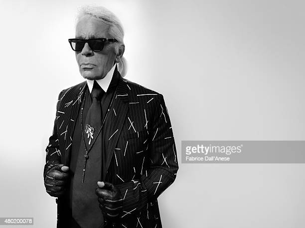 Designer Karl Lagerfeld is photographed for Vanity Faircom on May 15 2015 in Cannes France