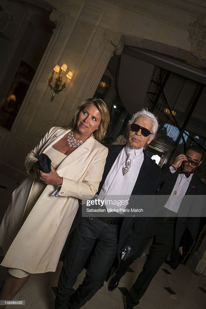 Designer Karl Lagerfeld photographed at the amfAR Cinema Against AIDS gala, for Paris Match on May 24, 2012, in Cap d'Antibes, France.
