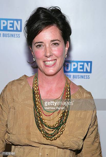 Designer Kate Spade attends OPEN from American Express' 'Making a Name for Yourself' at Nokia Theater July 27 2006 in New York City