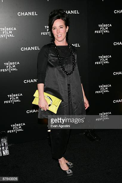 Designer Kate Spade attends the Chanel Tribeca Film Festival Dinner at Mr Chow May 5 2006 in New York City