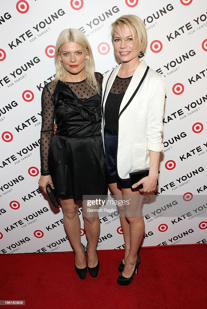 Designer <a gi-track='captionPersonalityLinkClicked' href=/galleries/search?phrase=Kate+Young+-+Stylist&family=editorial&specificpeople=15146765 ng-click='$event.stopPropagation()'>Kate Young</a> and actress Michelle Williams attend the <a gi-track='captionPersonalityLinkClicked' href=/galleries/search?phrase=Kate+Young+-+Stylist&family=editorial&specificpeople=15146765 ng-click='$event.stopPropagation()'>Kate Young</a> For Target Launch at The Old School NYC on April 9, 2013 in New York City.