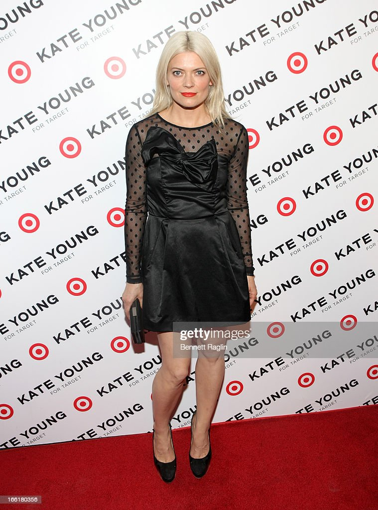 Designer Kate Young poses for a picture during the Kate Young For Target Launch at The Old School NYC on April 9, 2013 in New York City.