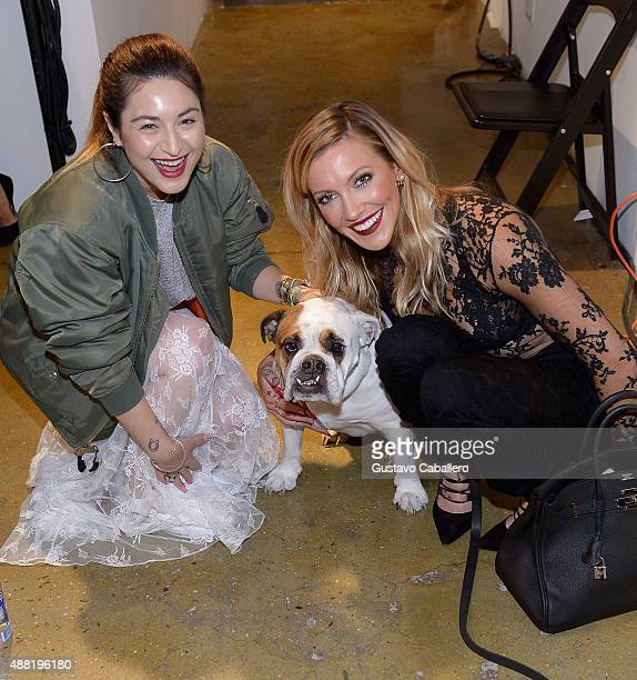 Designer Katharine Polk and Katie Cassidy attend the Houghton Spring 2016 Runway Show at Milk Studios on September 14 2015 in New York City