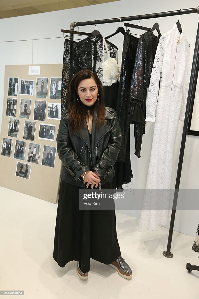 Designer Katharine Polk at Houghton presentation during Fall 2016 New York Fashion Week at Houghton Atelier on February 10, 2016 in New York City.