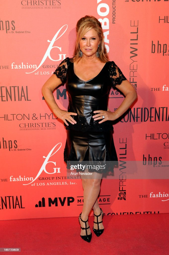 Designer <a gi-track='captionPersonalityLinkClicked' href=/galleries/search?phrase=Kathy+Hilton&family=editorial&specificpeople=209306 ng-click='$event.stopPropagation()'>Kathy Hilton</a> arrives at the 5th Annual Designer & The Muse Hosted By <a gi-track='captionPersonalityLinkClicked' href=/galleries/search?phrase=Kathy+Hilton&family=editorial&specificpeople=209306 ng-click='$event.stopPropagation()'>Kathy Hilton</a> at Mr. C Beverly Hills on October 23, 2013 in Beverly Hills, California.