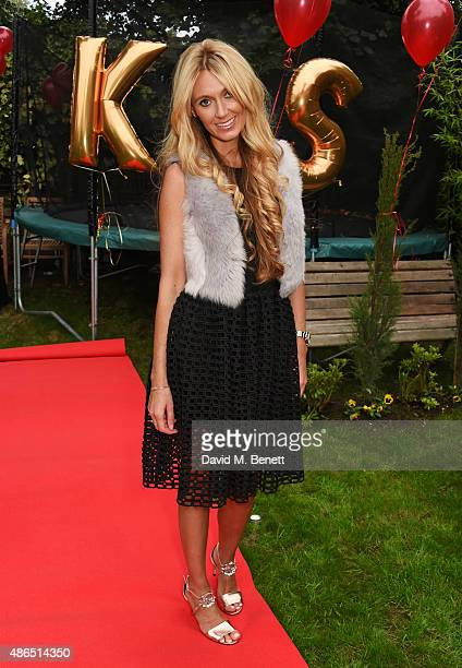 Designer Kelly Simpkin attends Kelly Simpkin London's fashion soiree garden party in support of the British Red Cross at the home of Kelly Simpkin...