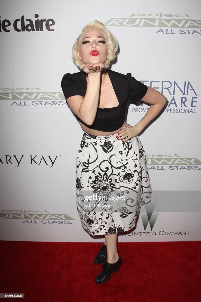 Designer Kenely Collins attends the Project Runway All Stars Season 3 premiere party presented by The Weinstein Company and Lifetime in partnership with Marie Claire, QVC, Mary Kay and Alterna Haircare at Hudson Common at the Hudson Hotel on October 22, 2013 in New York City.
