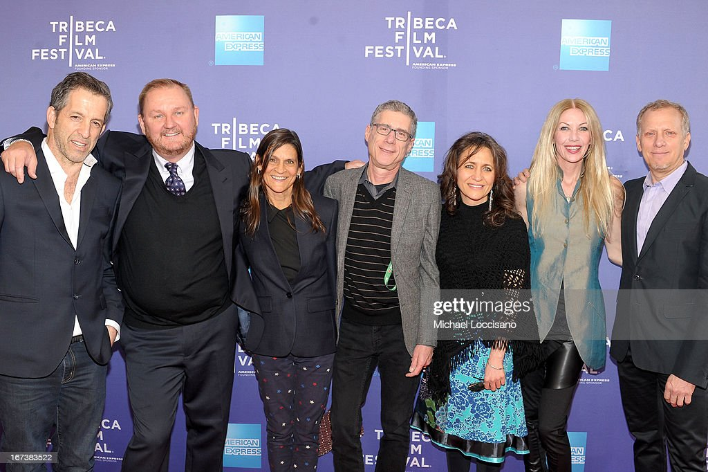 Designer Kenneth Cole, amfAR CEO Kevin Robert Frost, Aileen Getty, Jeffrey Friedman, SVP of HBO Documentary Films Lisa Heller, Regan Hoffman and Rob Epstein attend HBO's 'The Battle of amfAR' premiere at Tribeca Film Festival on April 24, 2013 in New York City.