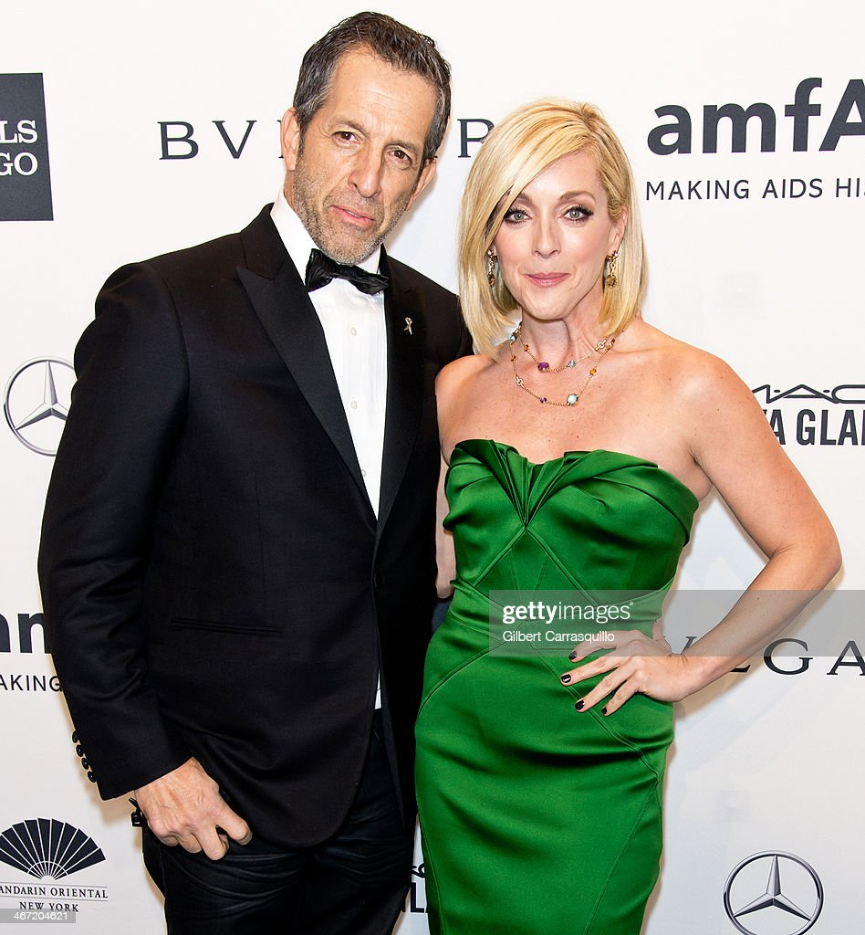 Designer Kenneth Cole and actress Jane Krakowski attend the 2014 amfAR New York Gala at Cipriani Wall Street on February 5, 2014 in New York City.