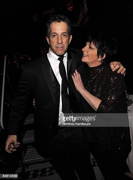 Designer Kenneth Cole and Singer/actress Liza Minnelli attends the amfAR New York Gala at Cipriani on 42nd Street to kick off Fall 2009 Fashion Week...