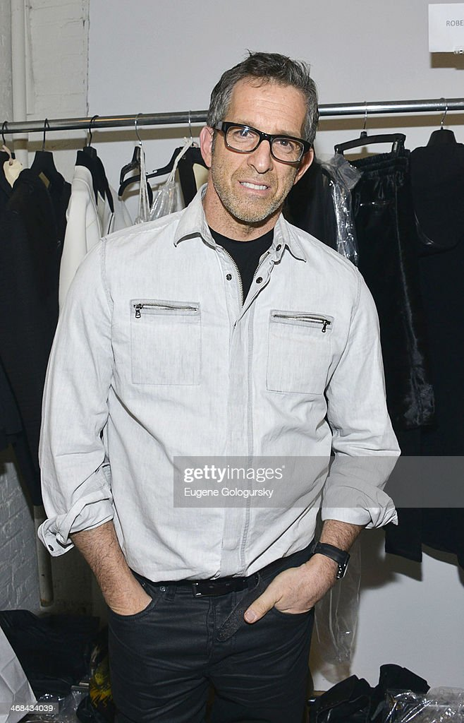Designer <a gi-track='captionPersonalityLinkClicked' href=/galleries/search?phrase=Kenneth+Cole+-+Fashion+Designer&family=editorial&specificpeople=6945408 ng-click='$event.stopPropagation()'>Kenneth Cole</a> backstage at the <a gi-track='captionPersonalityLinkClicked' href=/galleries/search?phrase=Kenneth+Cole+-+Fashion+Designer&family=editorial&specificpeople=6945408 ng-click='$event.stopPropagation()'>Kenneth Cole</a> Collection fashion show during Mercedes-Benz Fashion Week Fall 2014 at The Garage By <a gi-track='captionPersonalityLinkClicked' href=/galleries/search?phrase=Kenneth+Cole+-+Fashion+Designer&family=editorial&specificpeople=6945408 ng-click='$event.stopPropagation()'>Kenneth Cole</a> on February 10, 2014 in New York City.