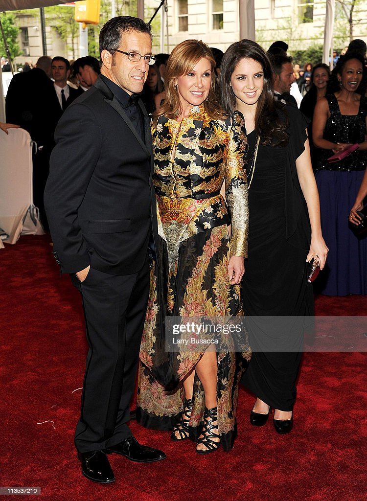 Designer Kenneth Cole, Maria Cuomo Cole and Emily Cole attend the 'Alexander McQueen: Savage Beauty' Costume Institute Gala at The Metropolitan Museum of Art on May 2, 2011 in New York City.