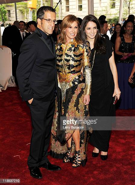 Designer Kenneth Cole Maria Cuomo Cole and Emily Cole attend the 'Alexander McQueen Savage Beauty' Costume Institute Gala at The Metropolitan Museum...