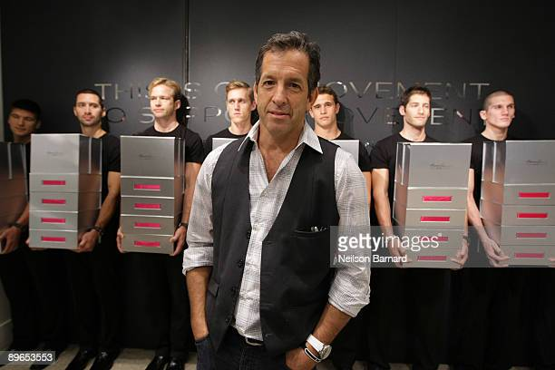 Designer Kenneth Cole poses for a photograph at the launch of Silver 925 Technology at the Kenneth Cole New York Rockefeller Center Store on August 7...