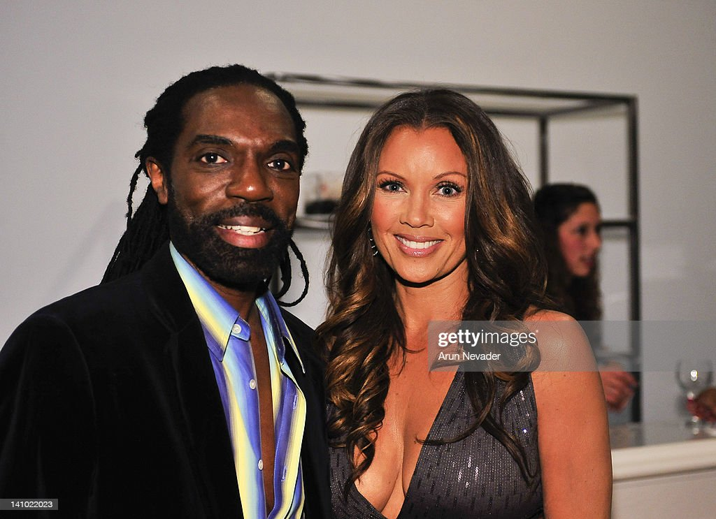 Designer Kevan Hall and actor Vanessa Williams attend 'Meet The Designer and the Muse' at Ace Gallery on March 8, 2012 in Los Angeles, California.