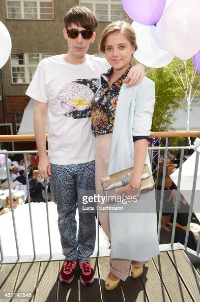 Designer Kilian Kerner and actress Jella Haase attend the Gala Fashion Brunch at Ellington Hotel on July 11 2014 in Berlin Germany