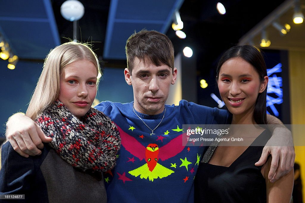 Designer Kilian Kerner (C) and models after the Kilian Kerner and Grundig fashion show at the 'Internationale Funkausstellung' on September 1, 2012 in Berlin, Germany.