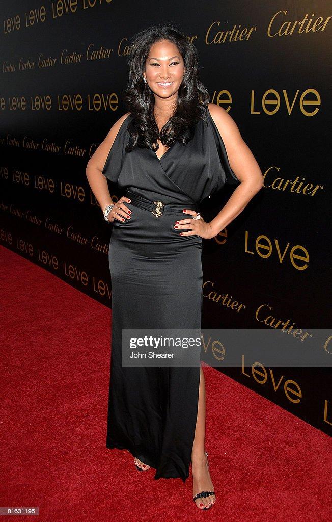 designer cartier 9qrp  Designer Kimora Lee wearing Cartier jewelry arrives at the Cartier Love  Charity Bracelet Launch