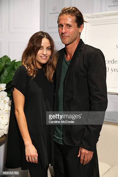 Designer Kym Ellery and boyfriend prosurfer Luke Stedman attend the MercedesBenz Presents Dinner following the Ellery Show at MercedesBenz Fashion...