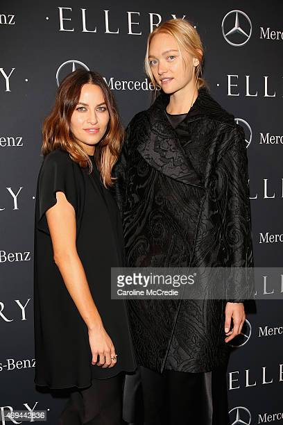 Designer Kym Ellery and model Gemma Ward attend the MercedesBenz Presents Ellery show at MercedesBenz Fashion Week Australia 2015 at Carriageworks on...