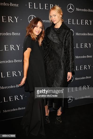 Designer Kym Ellery and model Gemma Ward attend the MercedesBenz Presents Ellery show at MercedesBenz Fashion Week Australia 2015 at Carriageworks on...