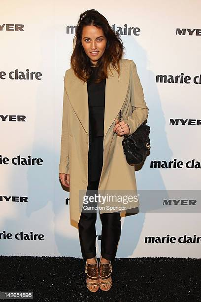 Designer Kym Ellery arrives at the 2012 Prix De Marie Claire Beauty Awards at the Museum of Contemporary Art on April 11 2012 in Sydney Australia