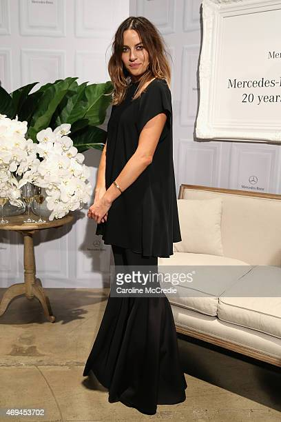 Designer Kym Ellery attends the MercedesBenz Presents Dinner following the Ellery Show at MercedesBenz Fashion Week Australia 2015 at Carriageworks...
