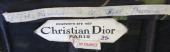 Designer label inside evening dress 1957 By Christian Dior