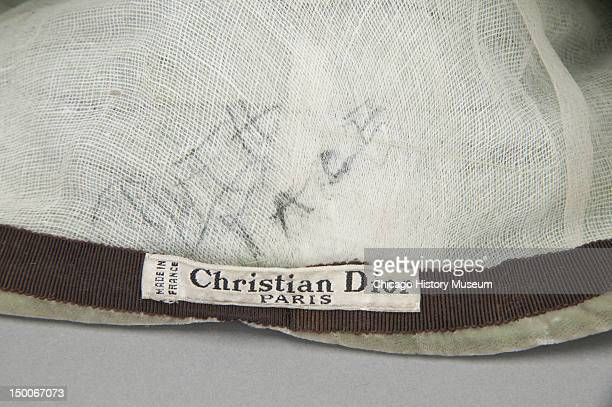 Designer label inside hat ca 1950 By Christian Dior worn by dancer and choreographer Ruth Page