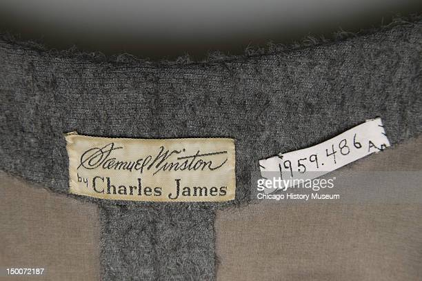 Designer labels inside Charles James day dress 1951 This dress was initially designed as a readytowear dress for production by Samuel Winston