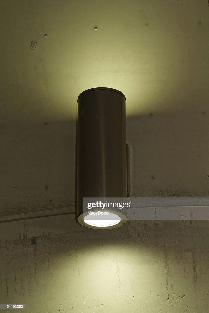 designer luz na parede : Foto de stock