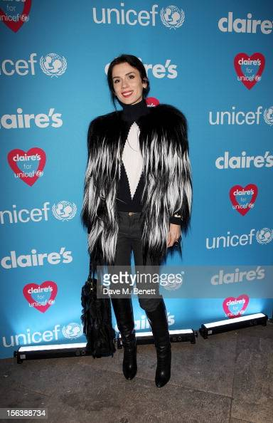 Designer Lara Bohinc arrives at a party celebrating the partnership between international fashion retailer Claire's and the world's leading...
