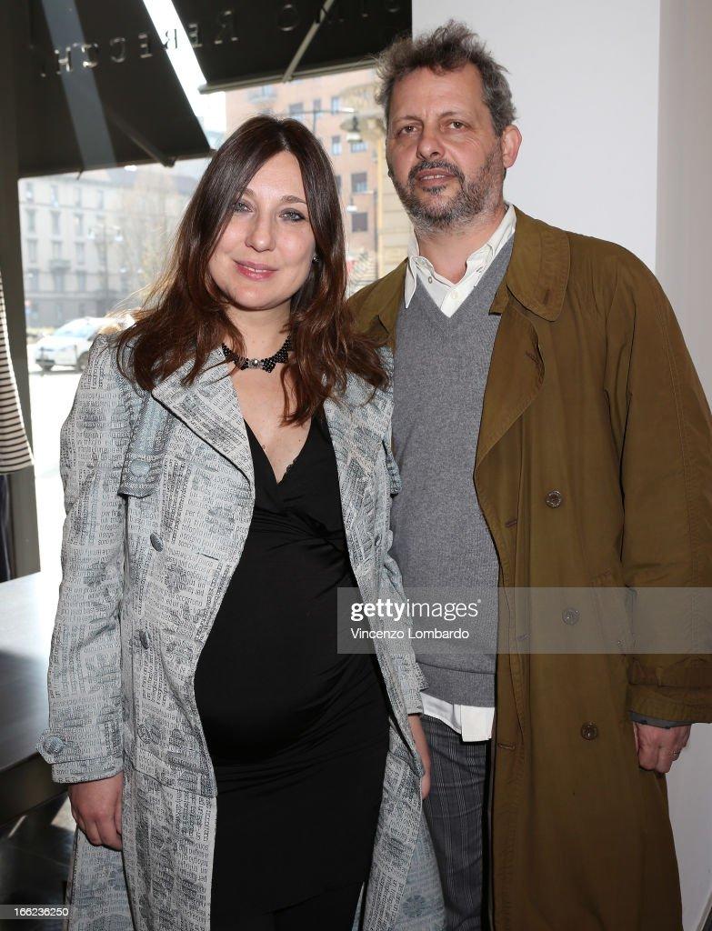 Designer Laura Fiaschi and designer Gabriele Pardi attend Oggetti Smarriti di Gumdesign - 2013 Milan Design Week on April 10, 2013 in Milan, Italy.