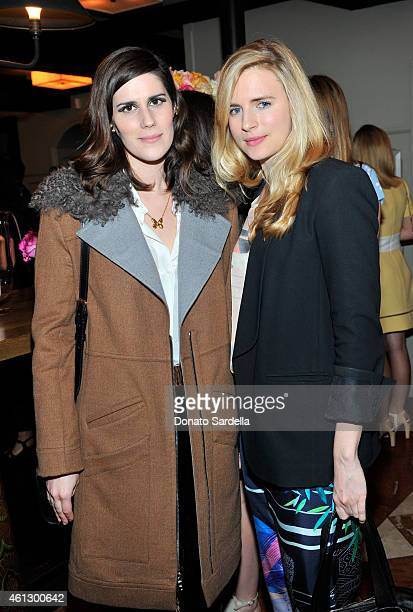 Designer Laura Mulleavy and actress Brit Marling attend Lynn Hirschberg Celebrates W's It Girls with Piaget and Dom Perignon at AOC on January 10...
