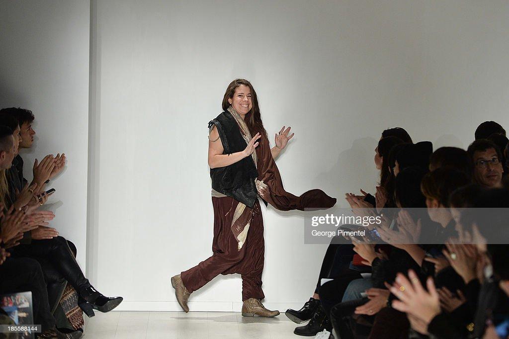 Designer Laura Siegel presentsÊLaura Siegel duringÊWorld MasterCard Fashion Week Spring 2014 at David Pecaut SquareÊ at David Pecaut Square on October 22, 2013 in Toronto, Canada.