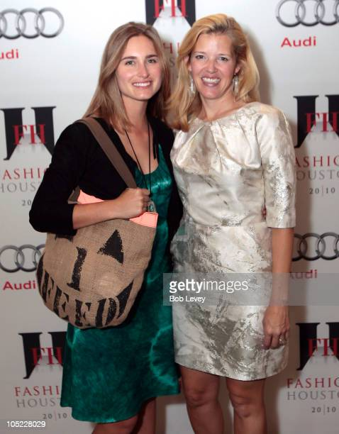 Designer Lauren Bush and Lela Rose pose in the HPNOTIQ candy lounge on day two of Fashion Houston 2010 Presented By Audi at the Wortham Theatre...