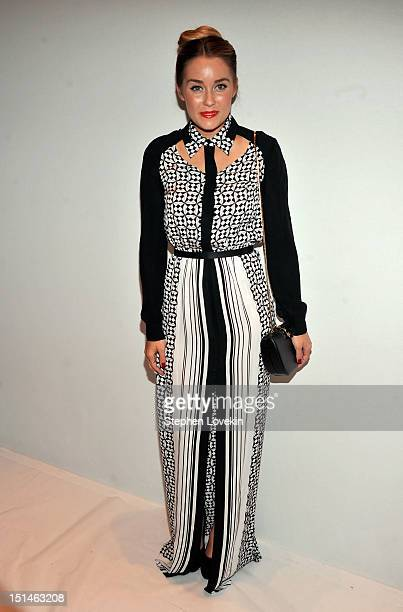 Designer Lauren Conrad attends the Rebecca Minkoff Spring 2013 fashion show during MercedesBenz Fashion Week at The Theatre Lincoln Center on...