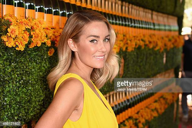 Designer Lauren Conrad attends the SixthAnnual Veuve Clicquot Polo Classic at Will Rogers State Historic Park on October 17 2015 in Pacific Palisades...