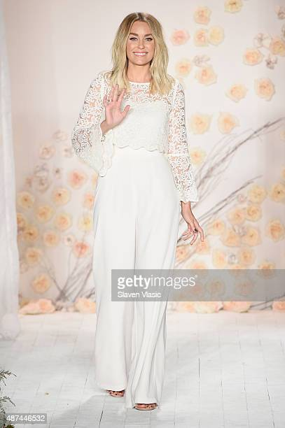 Designer Lauren Conrad walks the runway at the LC Lauren Conrad fashion show during New York Fashion Week Spring 2016 at Skylight Modern on September...
