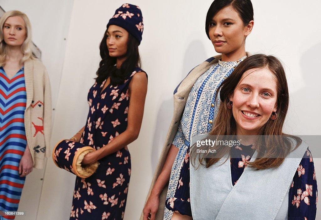 Designer Lauren Moffatt attends the Lauren Moffatt fall 2013 presentation during Mercedes-Benz Fashion Week on February 6, 2013 in New York City.